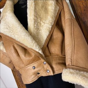 Andrew Marc 100% Shearling Leather Jacket $1950